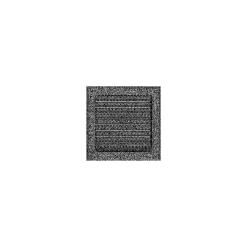 Kratka Oskar czarno-srebrna z żaluzją 22x22