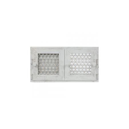 Kratka Retro podwójna biała antyk otwierana 17