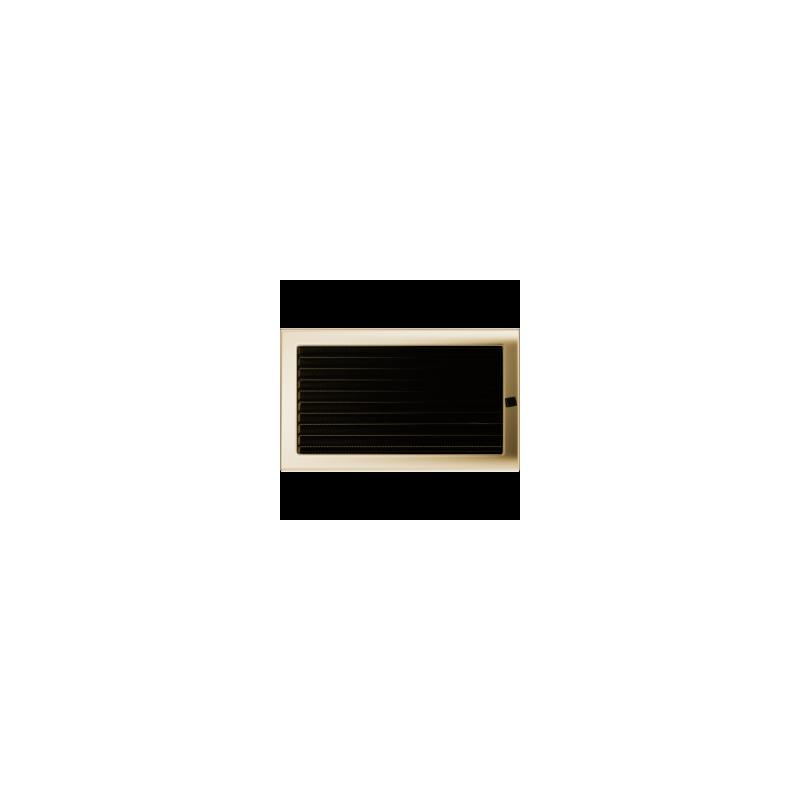 Kratka pozłacana z żaluzją 22x37