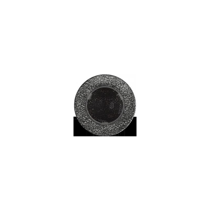 Kratka okrągła czarno-srebrna fi 100