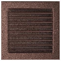 Kratka miedziana z żaluzją 22x22