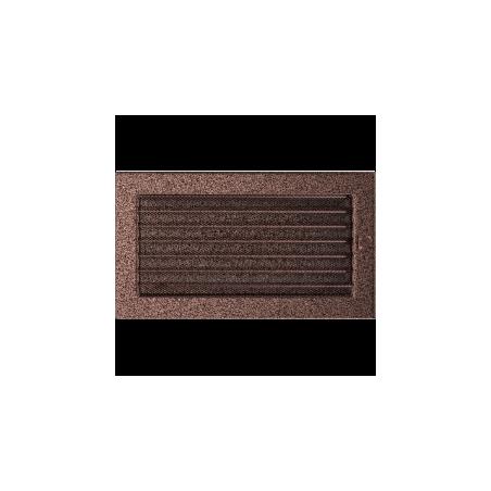 Kratka miedziana z żaluzją 17x30