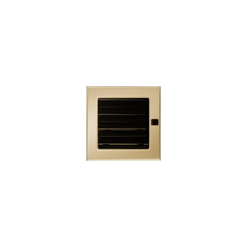 Kratka pozłacana z żaluzją 17x17