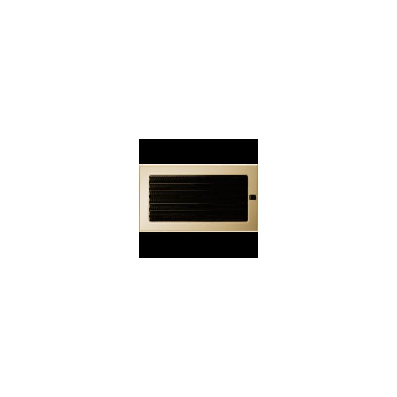 Kratka pozłacana z żaluzją 17x30