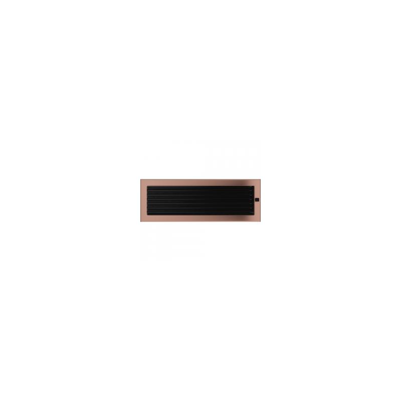 Kratka miedź galwaniczna z żaluzją 17x49