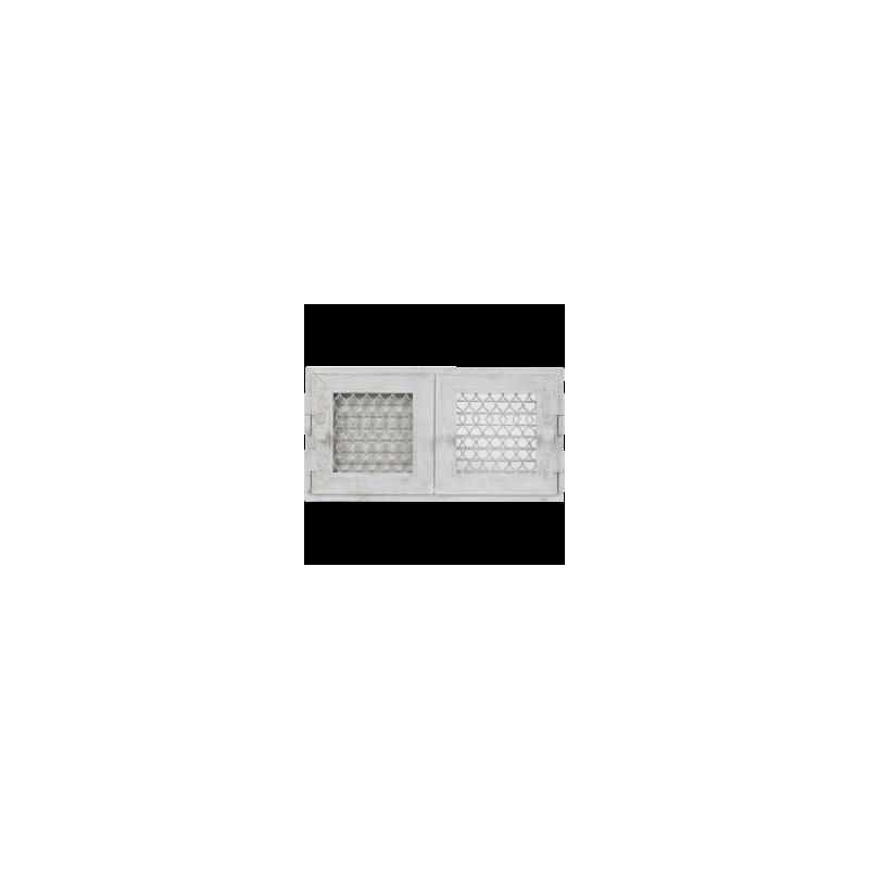Kratka Retro podwójna biała antyk otwierana 22