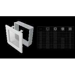 Kratka czarno-srebrna 22x45