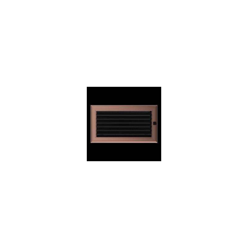 Kratka Oskar miedziana malowana z żaluzją 17x30